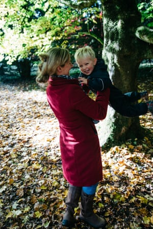 Lauren and Finn Metcalfe play at Westonbirt