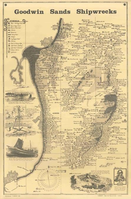 Goodwin Sands shipwreck map