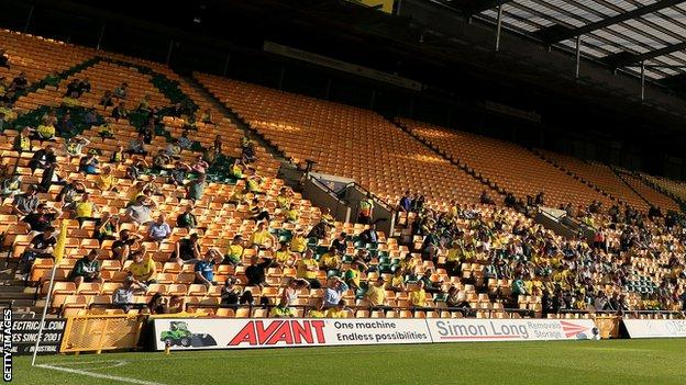Fans at Carrow Road