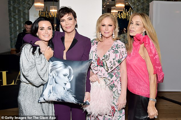 Reality salsa: Kyle and Kathy are also friends with Kris Jenner from Keeping Up With The Kardashians; seen here with Faye Resnick in June 2019