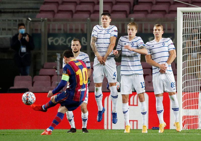 © Reuters. Champions League - Group G - FC Barcelona v Dynamo Kyiv