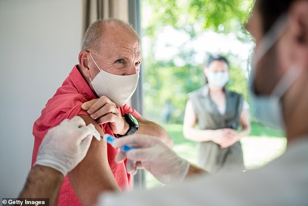 A new poll reveals 85% of US senior citizens plan to get a coronavirus vaccine when one is approved (file image)