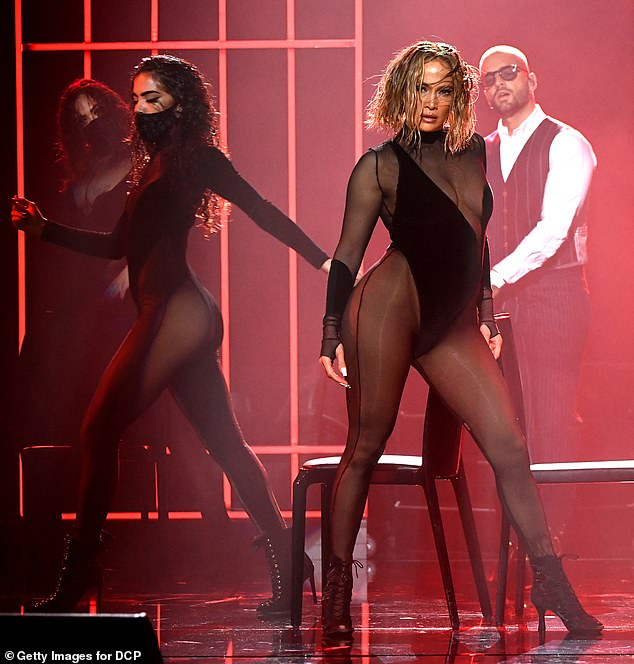 'Copied everything': Twitter users have accused Jennifer Lopez of copying Beyonce's Drunk In Love performance at the American Music Awards on Sunday night