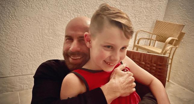 John Travolta and son Benjamin on his 10th birthday