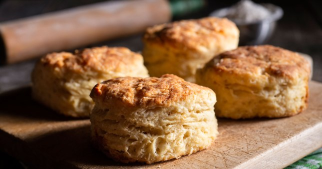 scones on a table