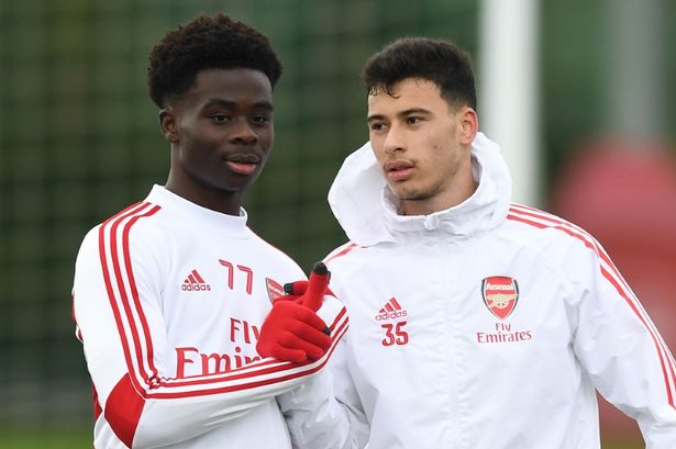 Saka has been a standout performer for the Gunners this season, while Martinelli was on target against the Blades