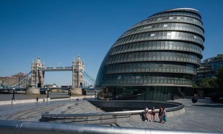 The City Hall building near Tower Bridge