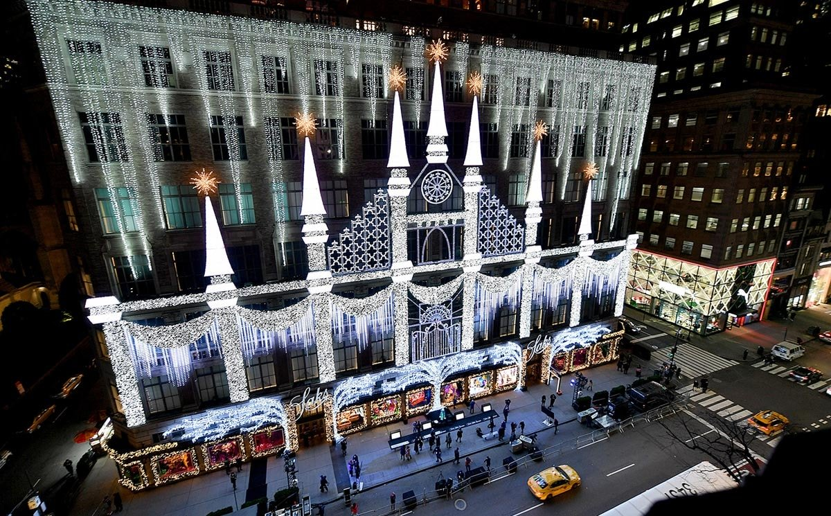Saks unveils Fifth Avenue holiday window and lights display