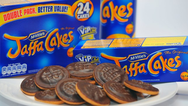 A general view of a plate of Jaffa Cakes