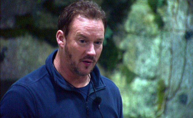Russell Watson in I'm A Celebrity camp