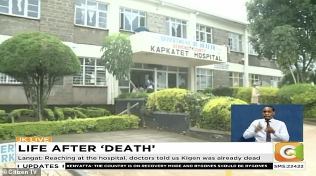 Mr Kigen, who reportedly suffered a stomach ailment, was taken to hospital by his family after fainting in his house on November 24.The staff were said to have 'casually checked' on the patient before pronouncing him 'dead', Denis Langat, Mr Kigen's uncle, told Citizen TV