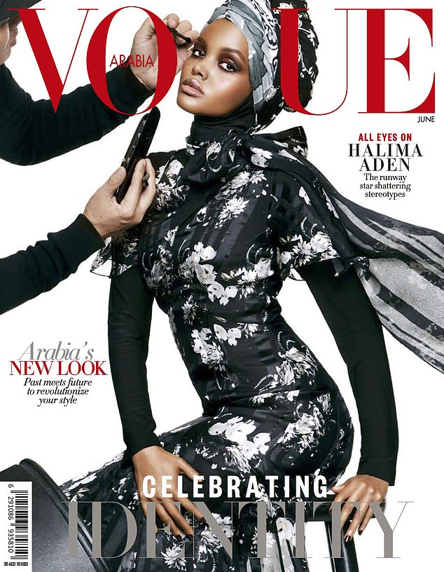 Aden, who has appeared on the front covers of of British Vogue, Vogue Arabia and Allure, said the pandemic gave her time to stay at home with her family and reflect on her career