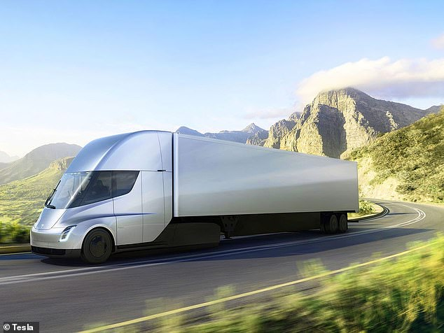 'Getting a range of let's say 500 km is I think quite easy, trivial to be frank, for a semi truck and this is assuming a truck that is pulling a load of 40 metric tons,' said Musk. 'If you want, for long-range trucking, you can take the range up to, we think, easily 800 km, and we see a path over time to 1,000 km range for an heavy duty truck'