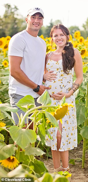 Brittain recently welcomed a daughter with his fiancée, Isabella (pictured)