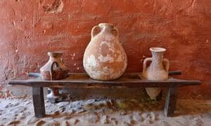 Jars in the Banys Arabs, Arab Baths, Palma de Mallorca, Majorca, Balearic Islands, Spain