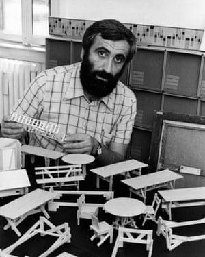 Enzo Mari in 1974. The designer had an uncompromising belief in communism.
