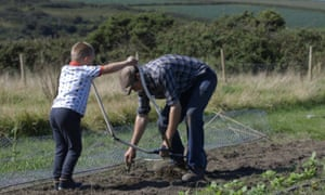 Local food farm in St Just, Cornwall captured in the film Daisy Chain.