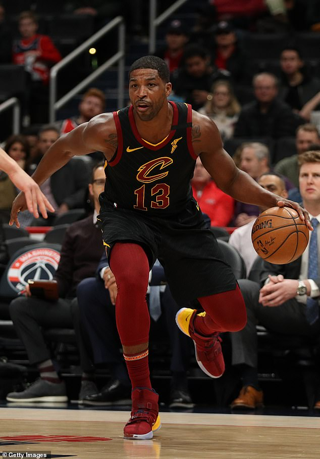 Bidding farewell:The Cavaliers chose Tristan in 2011 and he happened to be apart of the team that broke the 52-year Championship drought in Cleveland in 2016; Tristan pictured in Feb