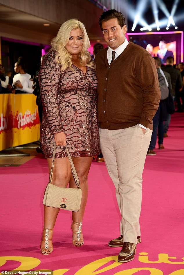 Split:In a poignant essay Gemma said she had no idea she was pregnant with ex partner James Argent's baby, before she started experiencing sharp cramps one morning (pictured October 2018)