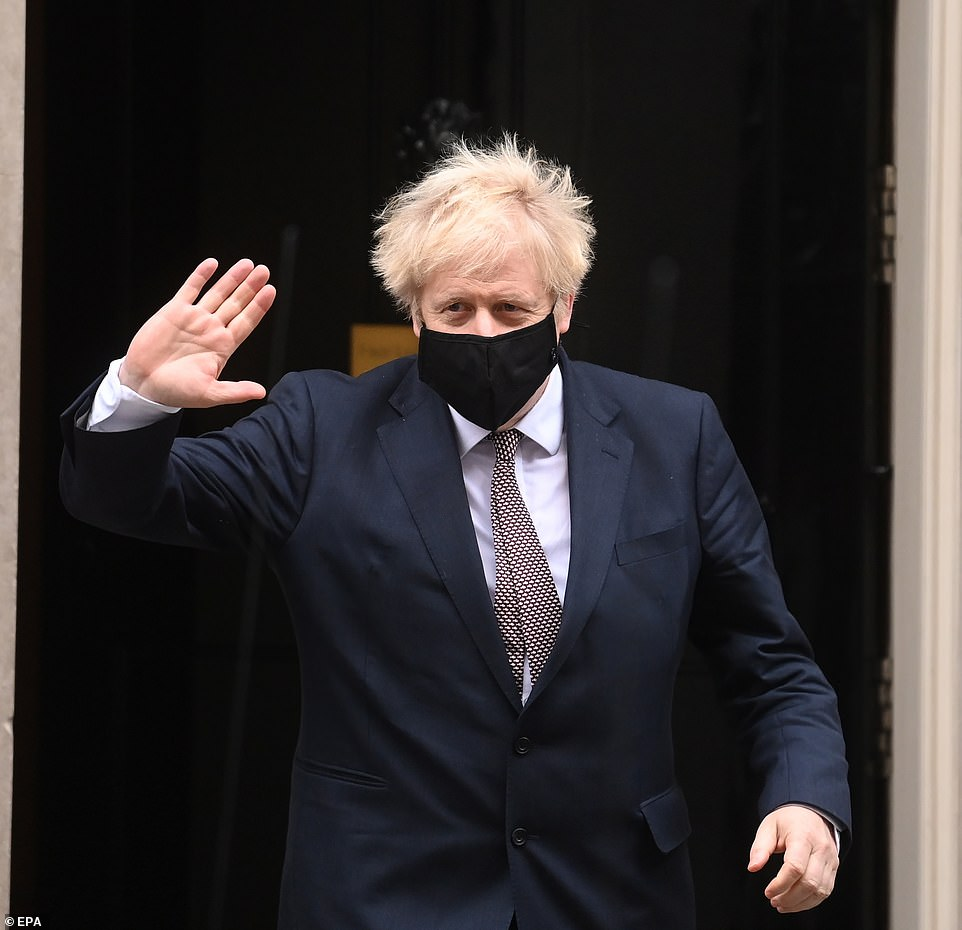 The Prime Minister, pictured leaving No 10, will hold a press conference this evening, told Conservative MPs last night that the new measures were going to be 'very tough'