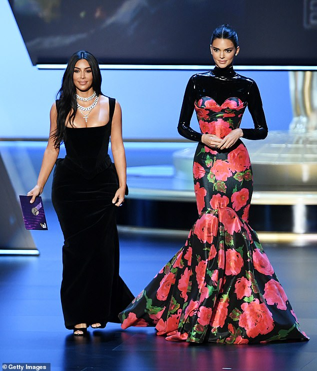 Fast forward: Kim and Kendall presenting together at the71st Emmy Awards at Microsoft Theater on September 22, 2019 in Los Angeles