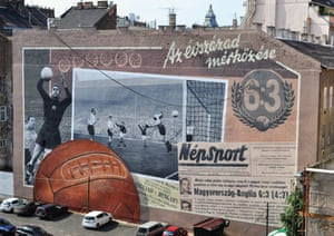 This huge painting in Budapest pays homage to the iconic match at Wembley.