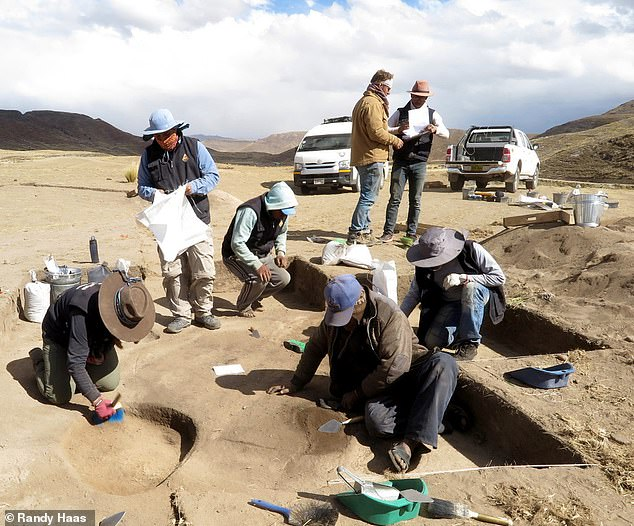 The remains of the hunter and her artefacts were found in a grave at the high-altitude archaeological site of Wilamaya Patjxa, in what is today Peru, pictured