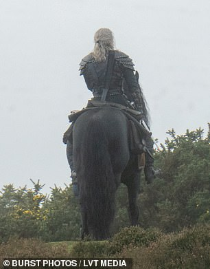 Solo shoot:At the end of season one Geralt finally united with Ciri, he became her warden by the Law Of Surprise after saving her father's life before she was born, though actress Freya Allen was not seen on set