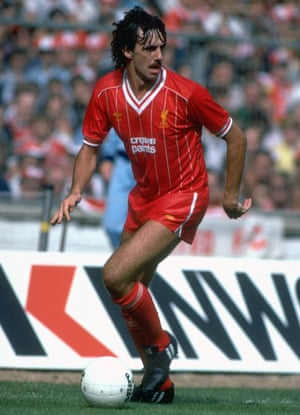 Mark Lawrenson in action for Liverpool during the 1983 Charity Shield against Manchester United at Wembley