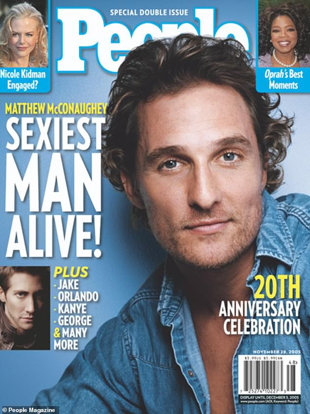 Smoldering:'I sensed a power vacuum in the sexy sphere. I'm coming for you, McConaughey,' he said in a tease at Matthew McConaughey who won in 2005