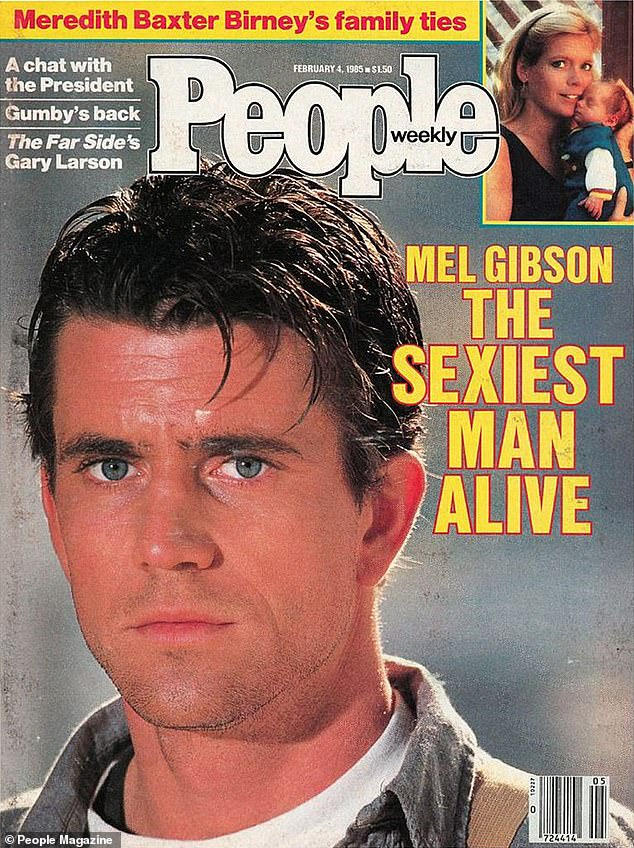 Remember when:The magazine's first ever Sexiest Man Alive was Mel Gibson who won in February 1985 after becoming a star in America through the Mad Max films