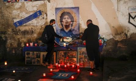 Diego Maradona's fans mourn