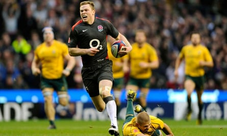 Australia are left trailing by Chris Ashton who scored a memorable try at Twickenham in November 2010.