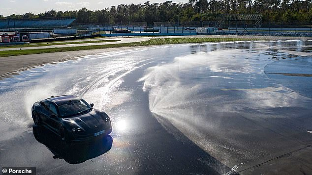 The record-breaking event took place at Porsche's Hockenheimring center, which is setup with an irrigation system to provide water on the track for a clean drift