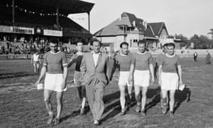 MTK players in Budapest in 1949.