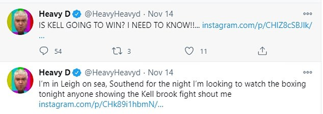Last messages: Heavy D was last posting on Twitter on November 14 as he wrote about watching the boxing and hoping to find romance