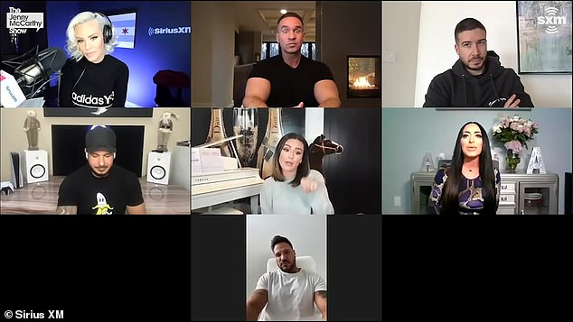 Yikes! Mike 'The Situation' Sorrentino also joined Vinny Guadagnino, DJ Pauly DDelVecchio and Ronnie Ortiz-Magro for a chat with Jenny McCarthy