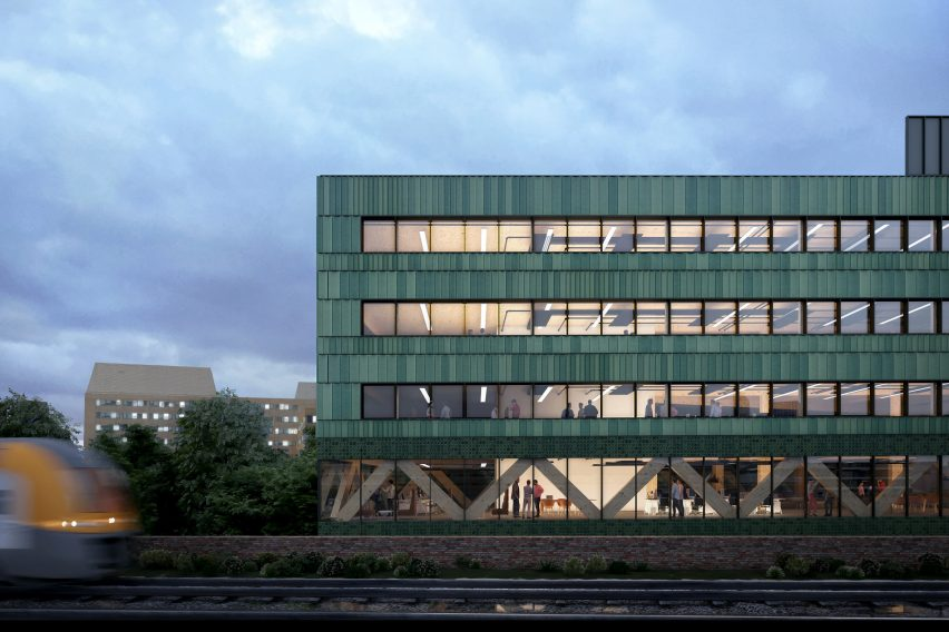 The carbon-negative office building Paradise by Feilden Clegg Bradley