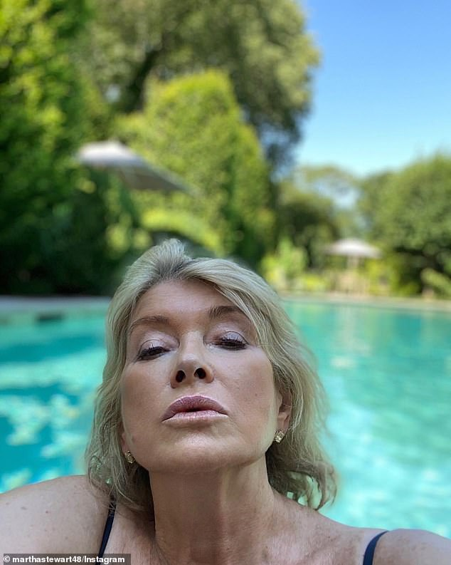 Wet and wild! Back in July, Martha broke the internet when she posted a sizzling selfie from her pool