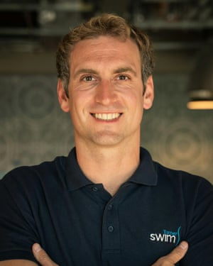 Andrew McAllister, who runs a swim coaching business.