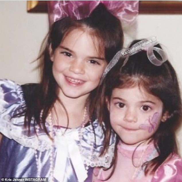 Two peas in a pod: There were also several images with her younger sister Kylie
