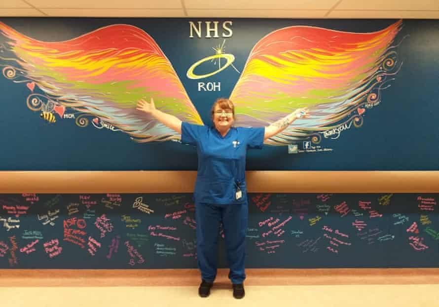 The staff nurse: Tracy Curran