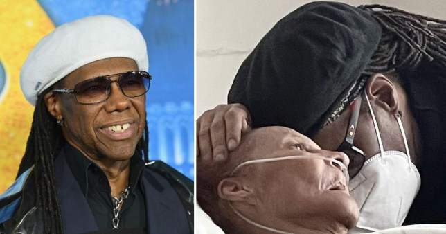 Nile Rodgers and his mother in hospital