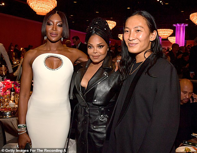 Alexander Wang, who rose to fame in the mid 2000s following the launch of his fashion label, has been accused of sexual misconduct by multiple individuals, according to WWD. He is pictured above with Naomi Campbell and Janet Jackson in January