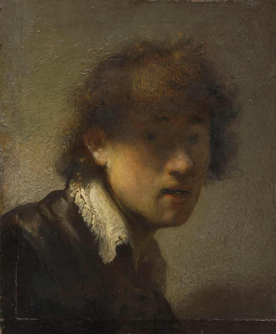 Self-portrait, 1629, by Rembrandt, at the Ashomolean, Oxford, earlier this year.