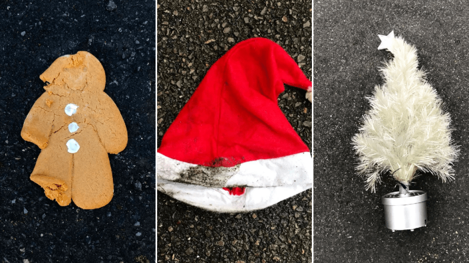 pictures of people's christmas litter
