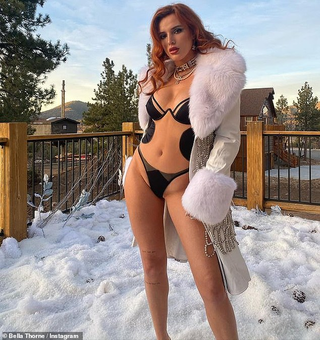 Ho ho ho:Hollywood pinup Bella Thorne shared some racy photos for her Instagram followers the day after Christmas