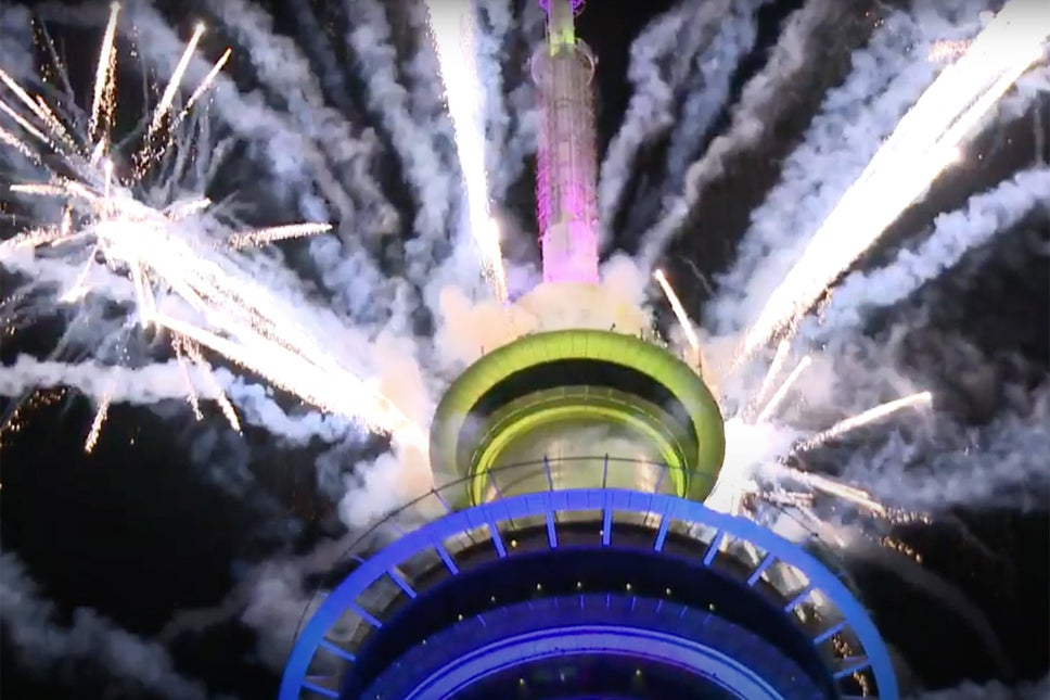 Auckland's Sky Tower New Year Fireworks