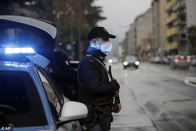 Police in Milan, which was at the epicentre of Italy's first wave of coronavirus, were out in force on Thursday checking the reason that people were out on the roads