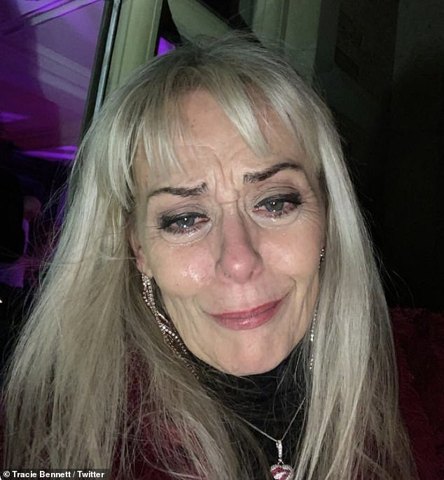 I'm fine! Tracie Bennett, 59, has reassured fans after posting a snap of herself in tears, insisting that she's 'fine' as she explained that she 'made a mistake' by posting the photograph